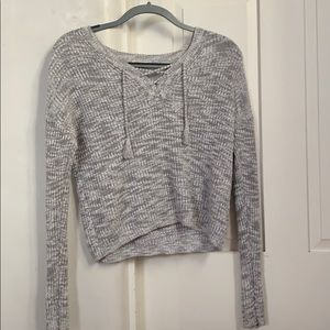 Heather grey cropped sweater